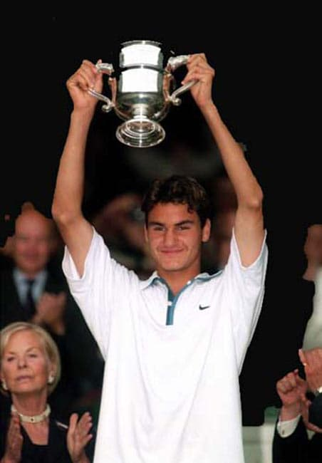 Federer's legend at tennis' greatest championship began in 1998, the year the Swiss star won the junior Wimbledon title. The same year he turned a professional. He was also recognized as the ITF World Junior Tennis champion of the year.