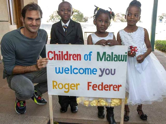 Roger Federer an Angel for Children in Impoverished Malawi