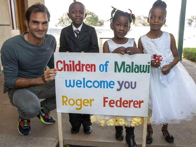 Roger Federer an Angel for Children in Impoverished Malawi