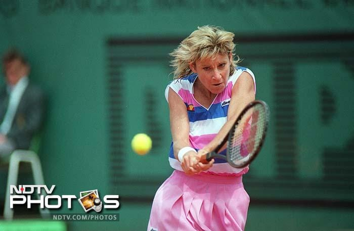 American Chris Evert occupies the ninth spot. She won 18 Grand Slam singles championships, including a record seven at the French Open and a record six at the US Open. Evert's career win–loss record of 1,309–146 (89.96%) in singles matches is the best of any professional player, man or woman, in the Open Era.