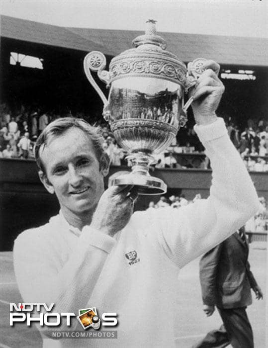 At No. 2 is Rod Laver was the World No. 1 player for seven consecutive years, from 1964 to 1970. He is the only tennis player to have twice won the Grand Slam (all four major singles titles in the same year). In all he won 11 major titles.