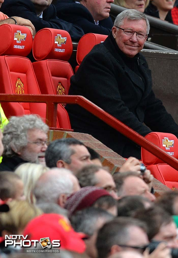 Ferguson sat in the famous Manchester United dugout for one final time and watched his side score a customary late winner.