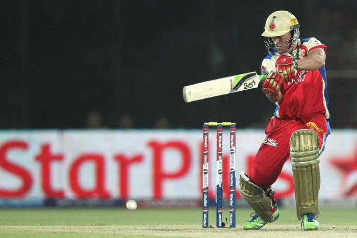 AB de Villiers hit 32 not out from 17 balls and that boosted Bangalore's total to 183/4 in 20 overs. (BCCI Image)