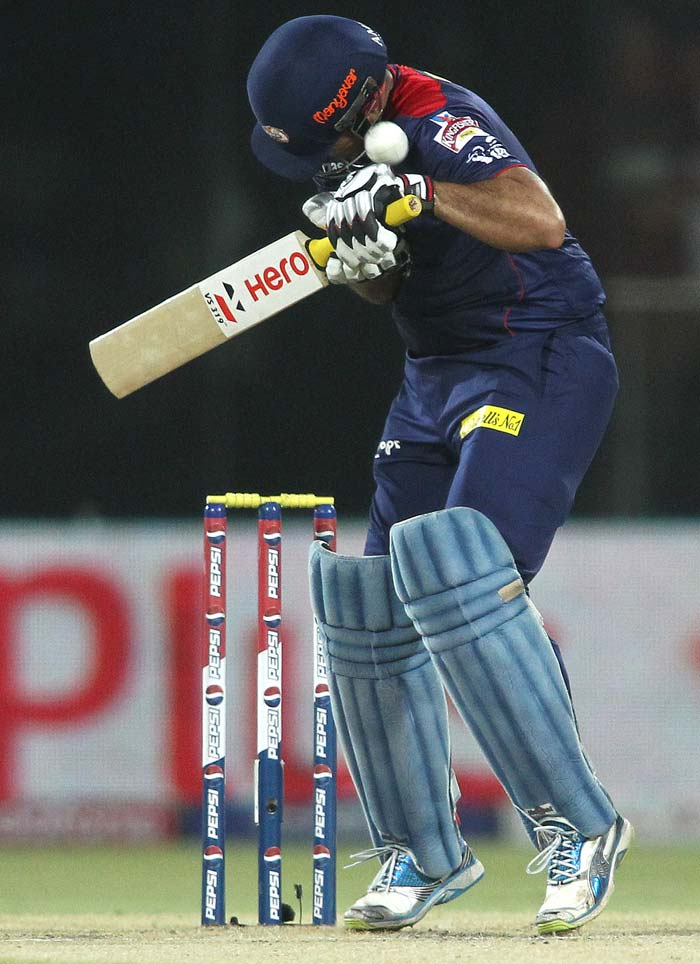 Virender Sehwag looked uncomfortable at the crease and scored a quick 18 before he was out. (BCCI Image)