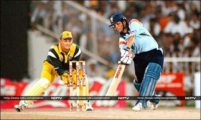 <b>143 vs Australia in 1998, 6th ODI Sharjah, Australia won by 25 runs </b><br><br>It was an innings that would go down in cricketing folklore as 'Desert Storm'. Sachin unleashed 143 brutal runs as he single-handedly destroyed the Australian bowling attack. The second highest score was just 35 by Nayan Mongia.