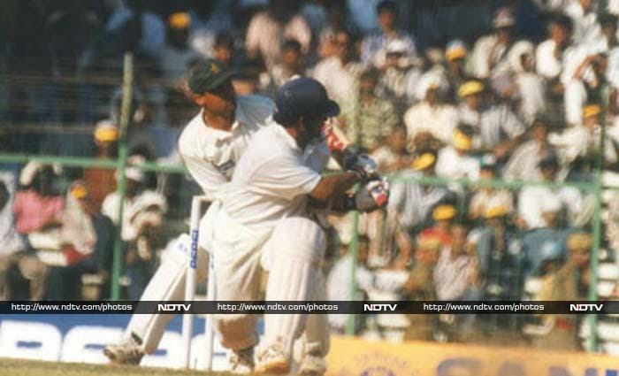 <b>136 vs Pakistan, 1st Test Chennai in 1999, Pakistan won by 12 runs </b><br><br>It was a day when Sachin battled his bad back and the Pakistan bowlers. India were tottering at 82/5 when Sachin took the attack to the bowling. He scored 136 and fell with 17 still needed. Pakistan ended up winning by 12 runs.