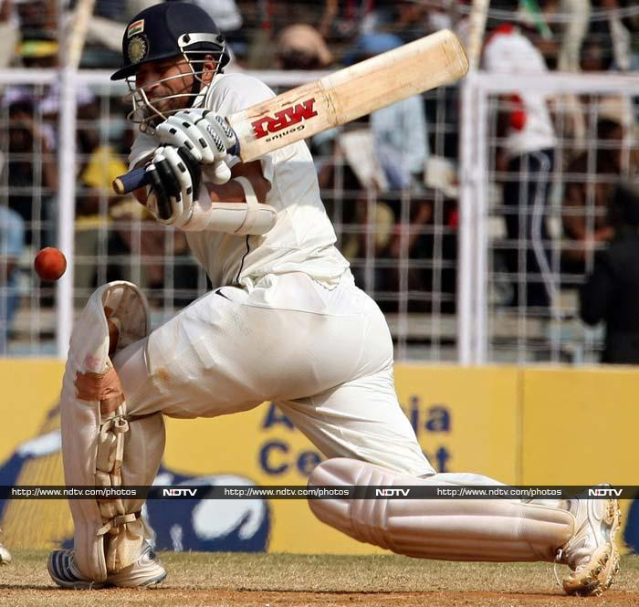 <b>103 not out vs England in Chennai, 1st Test 2008, India won by 6 wickets </b><br><br>Chasing 387 to win the fourth innings, Sachin played like a man possessed as no England bowler had any clue how to bowl to him. He brought up his century by hitting the winning runs and the joy on his face had to be seen to be believed. He dedicated his hundred to the victims of the Mumbai terror attacks earlier in the year.