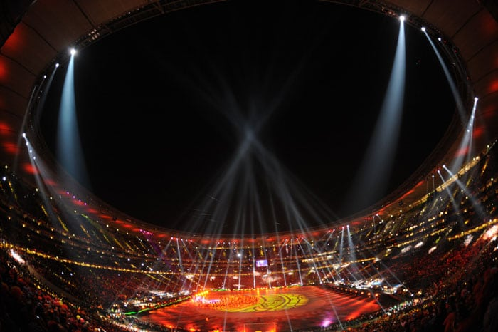 A general view taken from the stands during the closing ceremony. (AFP Photo)