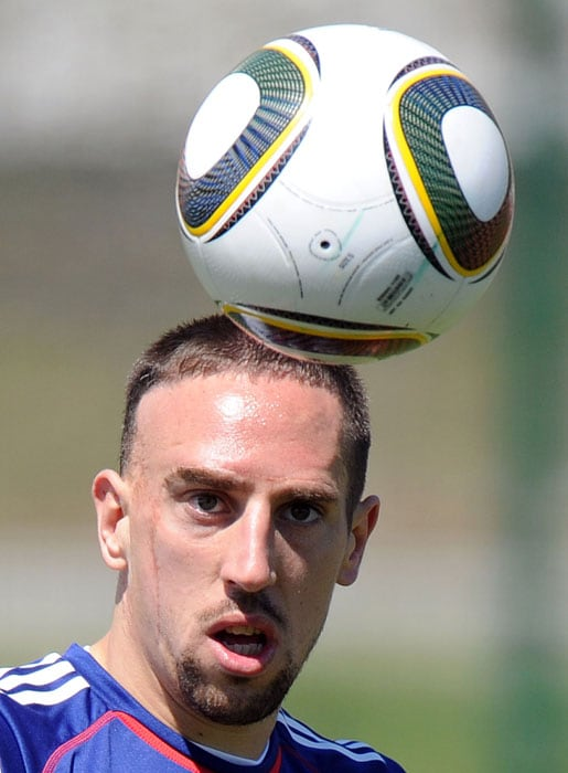 Four years after his dream World Cup debut, France's Franck Ribery travels to South Africa hoping a stellar display will help eclipse a nightmare season filled with injury and scandal.<br/><br/> The 27-year-old made his France debut just before the 2006 World Cup and played a leading role in getting France to the final, including scoring a superb individual goal with trademark flare in the last 16 win over Spain.(AFP PHOTO)