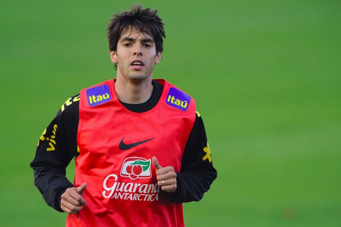 """Brazilian midfield star Kaka will be doubly keen to land World Cup glory with Brazil after admitting to a hit-and-miss first season with Real Madrid.<br/><br/> Injuries and some tepid form have meant the jury is still out on the 65 million-euro signing from AC Milan, whose contributions, even when fully fit, have been less than spectacular.<br/><br/> As Kaka admitted recently: """"I'm not happy with my performances, but it's all physical. I suffered a lot since I got injured.(AFP PHOTO)"""