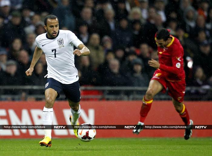Tottenham Hotspur's Andros Townsend crowned his international debut with a fine goal as England beat Montenegro 4-1 on Friday to close on a place at next year's World Cup.