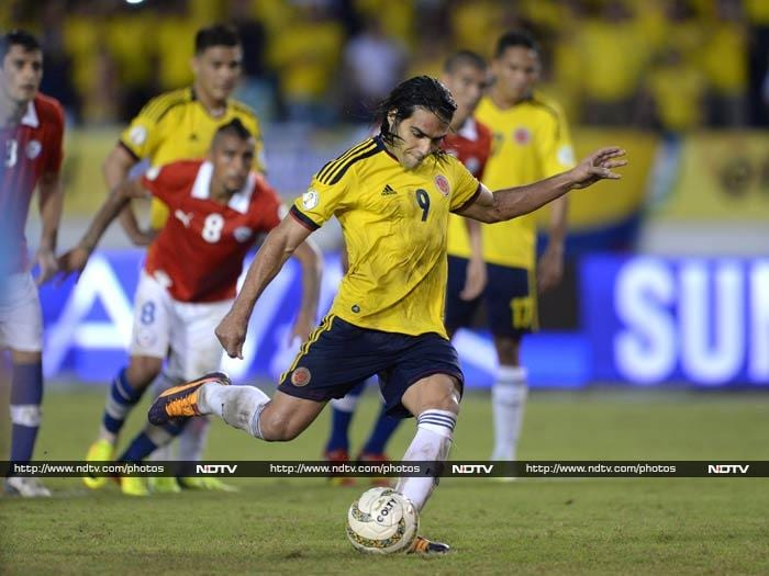 Colombia pulled off an amazing fightback to reach the World Cup for the first time since 1998, rallying from 3-0 down to snatch a 3-3 draw against 10-man Chile in a six-goal thriller. Monaco striker Radamel Falcao was the hero for the home side.