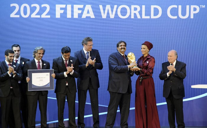 Russia and the tiny Gulf state of Qatar were awarded the 2018 and 2022 World Cups on Thursday after an acrimonious bidding war marred by allegations of corruption and illegal deal-making. (AFP Photo)