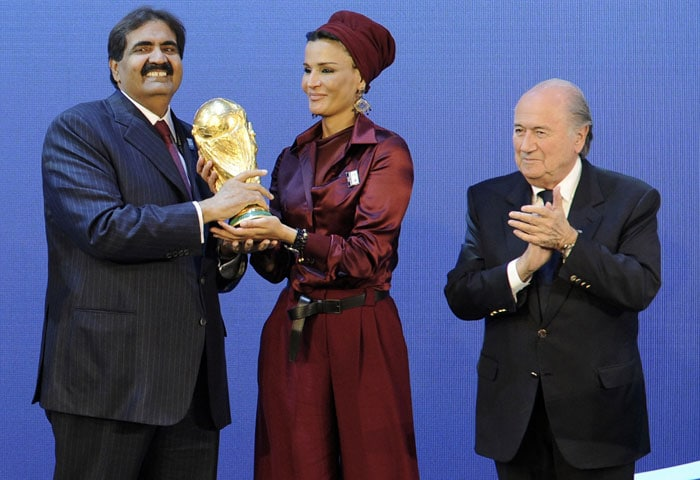 """But the shock of the day came in the 2022 race, where Qatar beat off stiff competition from the United States, Australia and Asian rivals South Korea and Japan in a remarkable result.<br><br>Qatar 2022 bid president Mohammed bin Hamad Al-Thani promised: """"We won't let you down. You will be proud of us, proud of the Middle East."""" (AFP Photo)"""