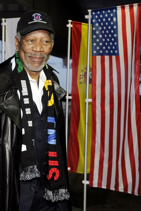 Academy Award-winning actor Morgan Freeman was also present to attend the United States' 2022 World Cup bid final presentation. (AFP Photo)