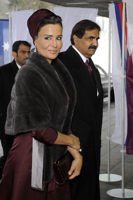 Qatar's Emir, Sheikh Hamad bin Khalifa al-Thani and his wife, Sheikha Mozah bint Nasser Al Missned graced the occasion with their presence at the Qatar's 2022 World Cup bid final presentation. (AFP Photo)