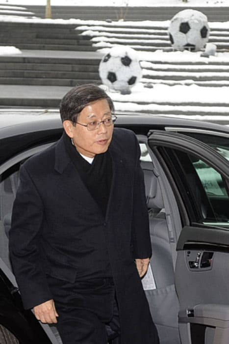 South Korean Prime Minister Kim Hwang-Sik also came to represent his country's bid for the football mega event in 2022. (AFP Photo)