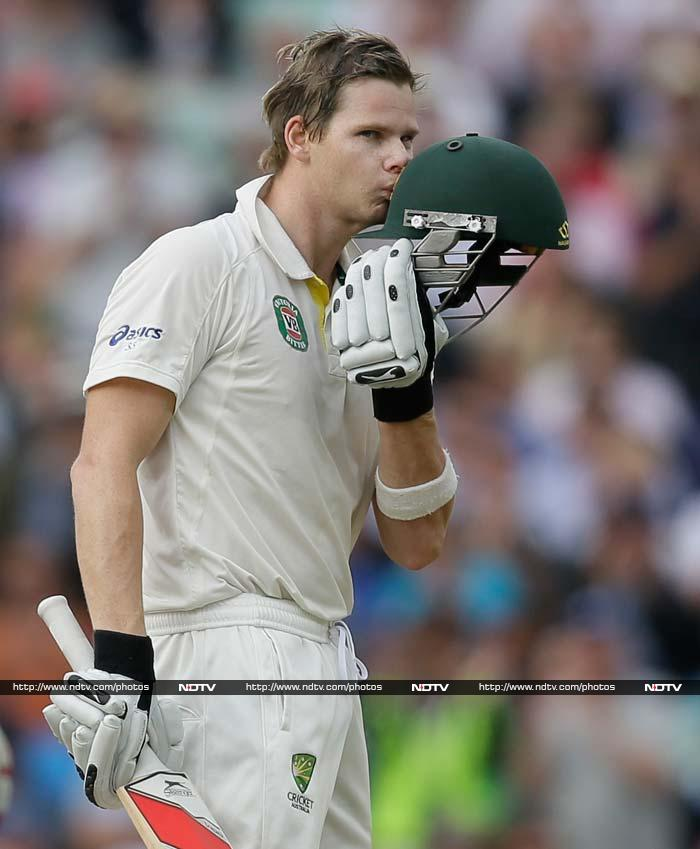 Steve Smith's 138 not out powered Australia to an imposing first innings total of 492 for nine declared on the second day as they sought a consolation win after England had already taken the series at 3-0 up. (All AFP and AP photos)