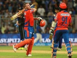 Photo : IPL 2016: Aaron Finch's Third Consecutive Fifty Gives Gujarat Lions Thrilling Win
