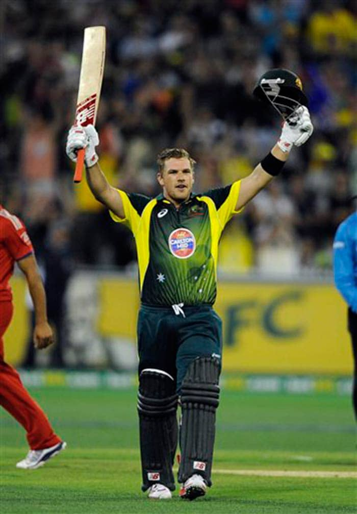 Finch notched up his second ODI century as the Aussies eased to a six-wicket win.