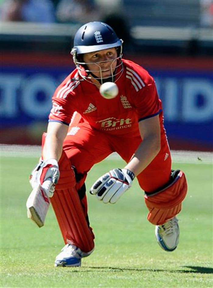 Gary Ballance was the star for England with 79 - his maiden fifty - as the visitors managed 269 for seven in their allotted overs.