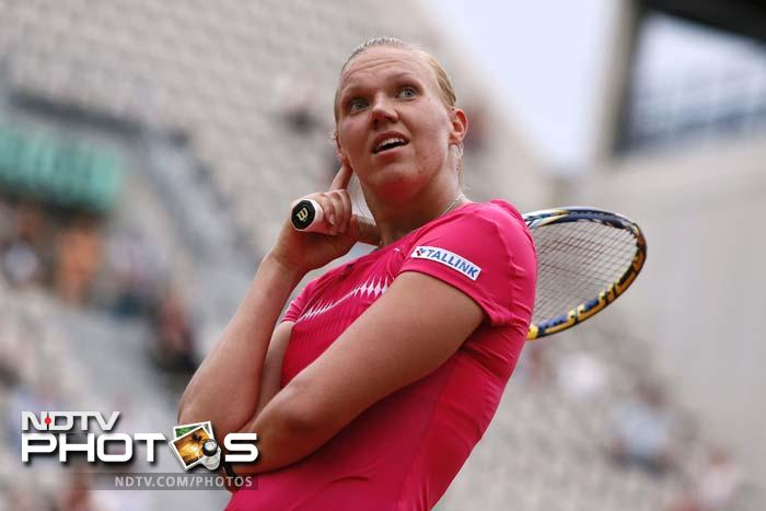 Kaia Kanepi had 41 unforced errors to Wozniacki's 17 but also hit 46 winners as compared to the 14 hit by the Dane.