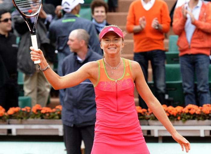 Slovakia's Daniela Hantuchova stunned top-ranked Caroline Wozniacki of Denmark in the third round to extend the Dane's wait for a maiden Grand Slam title. (AFP Photo)