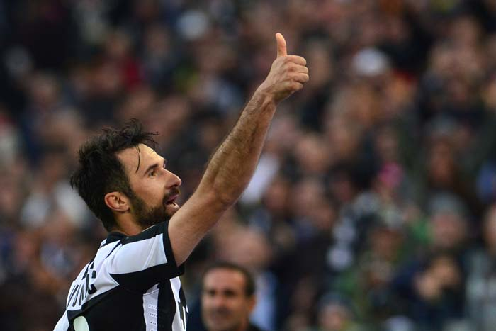 """""""It was spontaneous. I felt like it and I did it,"""" Vucinic explained afterwards."""