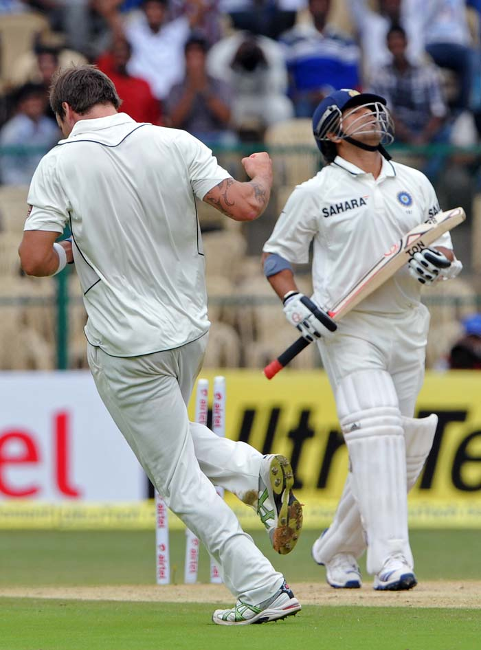 Much was expected from Sachin Tendulkar to put India back on track. But he was undone by Doug Bracewell.