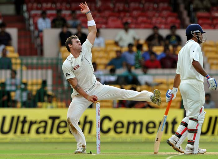 Doug Bracewell bowled well and took the two important wickets of Virender and Sachin Tendulkar after the lunch break.