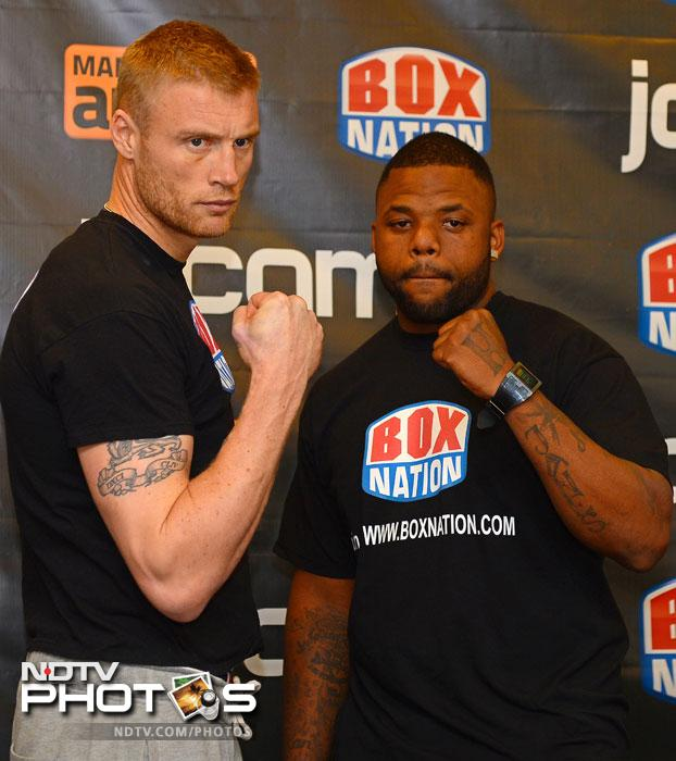 Flintoff takes on American fighter Richard Dawson in a heavyweight bout on Friday in Manchester, England, as part of a British TV documentary charting his switch from cricket to boxing. (AFP Photo)