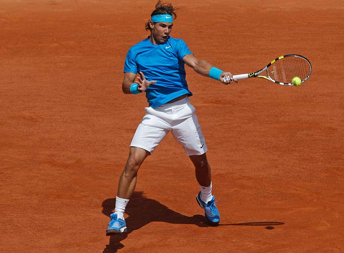 The biggest match of the day was five-time world champion Rafael Nadal versus American John Isner.