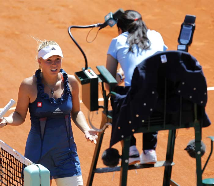 Wozniacki's match lasted about an hour and a half with an occasional trip to the chair umpire but was largely devoid of excitement thanked to her class with the racquet.