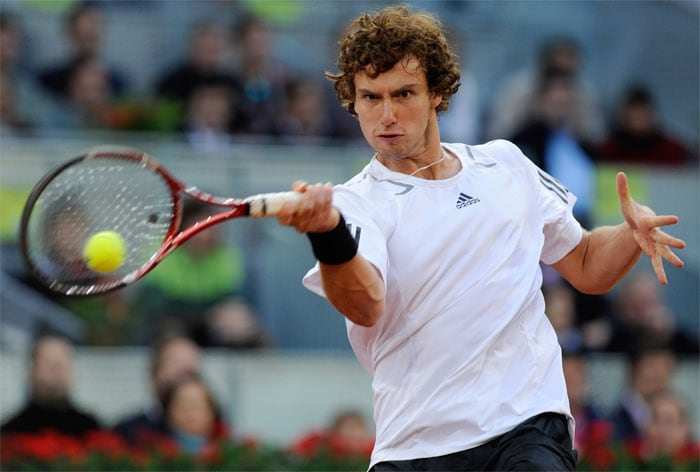"""<b>ERNESTS GULBIS</b> (LATVIA)<br/><br/> <b>World ranking</b>: 27<br/> <b>Birthdate</b>: Aug 30, 1988<br/> <b>Birthplace</b>: Riga, Latvia<br/> <b>Residence</b>: Jurmala, Latvia<br/> <b>Height</b>: 6'3"""" (190 cm)<br/> <b>Weight</b>: 169 lbs (77 kg)<br/> <b>Plays</b>: Right-handed<br/> <b>Turned Pro</b>: 2004<br/> <b>Career singles titles</b>: 1<br/> <b>Grand Slam singles titles</b>: 0<br/> <b>Career prize money</b>: 1,715,091 dollars<br/> <b>Best French Open result</b>: Quarter-finals (2008)<br/> - Desperate to shrug off image of the rich kid with a private plane, but no heart for the game when the pressure's on. Generates power and accuracy off both wings and boasts a gentle touch at the net. Has claycourt pedigree with a last eight spot at the French Open in 2008. Knocked Federer out of Rome this year on way to semi-final defeat in three sets to Nadal. Made quarter-finals in Madrid where he was beaten by Federer having won the first set."""