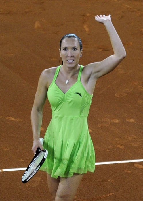 """<b>JELENA JANKOVIC</b> (SERBIA)<br/><br/> <b>World ranking</b> : 4<br/> <b>Birthdate</b> : February 28, 1985<br/> <b>Birthplace</b> : Belgrade<br/> <b>Residence</b> : Dubai<br/> <b>Height</b> : 5'9"""" (1.77 m)<br/> <b>Weight</b> : 130 lbs. (59 kg)<br/> <b>Plays</b> : Right-handed (two-handed backhand)<br/> <b>Turned Pro</b> : 2000<br/> <b>Career singles titles</b> : 12<br/> <b>Grand Slam singles titles</b> : 0<br/> <b>Career prize money</b> : 10,534,934 dollars<br/> <b>Best French Open result</b> : Semi-finals (2007, 2008)<br/> - Ranked world number one at the end of 2008, Jankovic is still without a Grand Slam title to her name and it rankles with her. Had a poor start to this year, but then she won in Indian Wells, Also reached the final im Rome and the last eight in Madrid. Two semi-final showings in Paris in 2007 and 2008 shows that she can adapt her game to clay."""