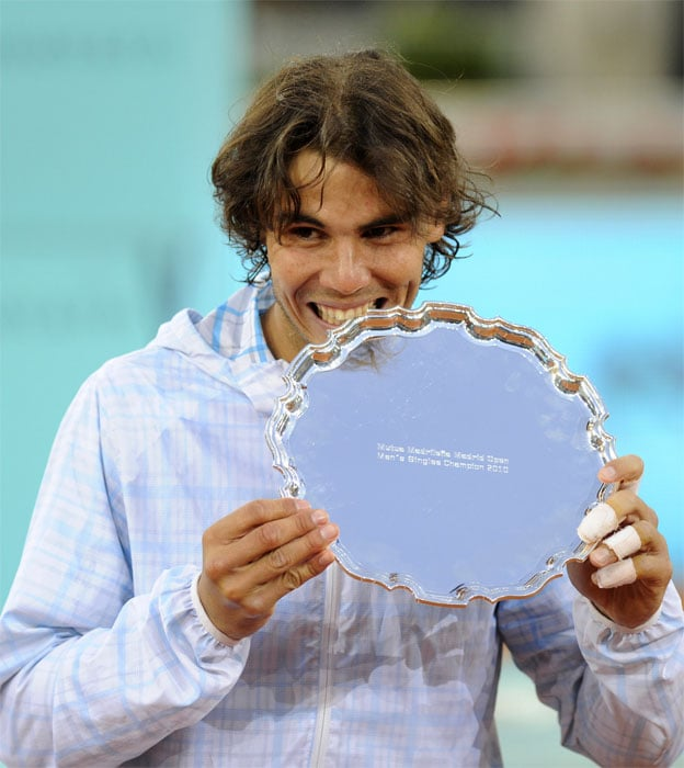 <b>RAFAEL NADAL</b> (SPAIN)<br/><br/> <b>World ranking</b>: 2<br/> <b>Birthdate</b>: June 3, 1986<br/> <b>Birthplace</b>: Manacor, Mallorca, Spain<br/> <b>Residence</b>: Manacor, Mallorca, Spain<br/> <b>Height</b>: 6'1'' (185 cm)<br/> <b>Weight</b>: 188 lbs (85 kg)<br/> <b>Plays</b>: Left-handed<br/> <b>Turned Pro</b>: 2001<br/> <b>Career singles titles</b>: 39<br/> <b>Grand Slam singles titles</b>: 6<br/> <b>Career prize money</b>: 29,821,044 dollars<br/> <b>Best French Open result</b>: Champion (2005, 2006, 2007, 2008)<br/> - Dream of becoming the first man to win five successive French Opens shattered in 2009 by shock defeat to Soderling. Knee problems, which prevented him from defending his Wimbledon title, seem to be a thing of the past with Nadal sweeping 2010 claycourt titles in Monte Carlo, Rome and Madrid taking his Masters record to new high of 18.