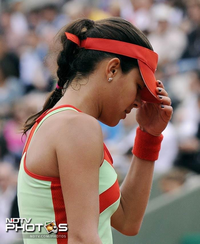 The shocker of the day came when Ana Ivanovic crashed out, falling to Sara Errani of Italy 1-6, 7-5, 6-3.
