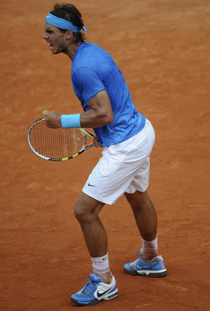 But Nadal was instrumental in denying any chance of a comeback as he gathered himself back together to launch into a frenzy of back and forehands.
