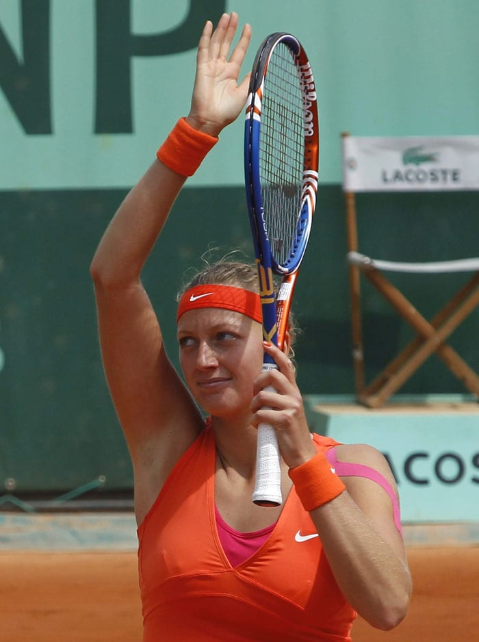 Ninth seed Petra Kvitova ousted Jie Zheng in straight sets to book a third round berth. (AFP Photo)