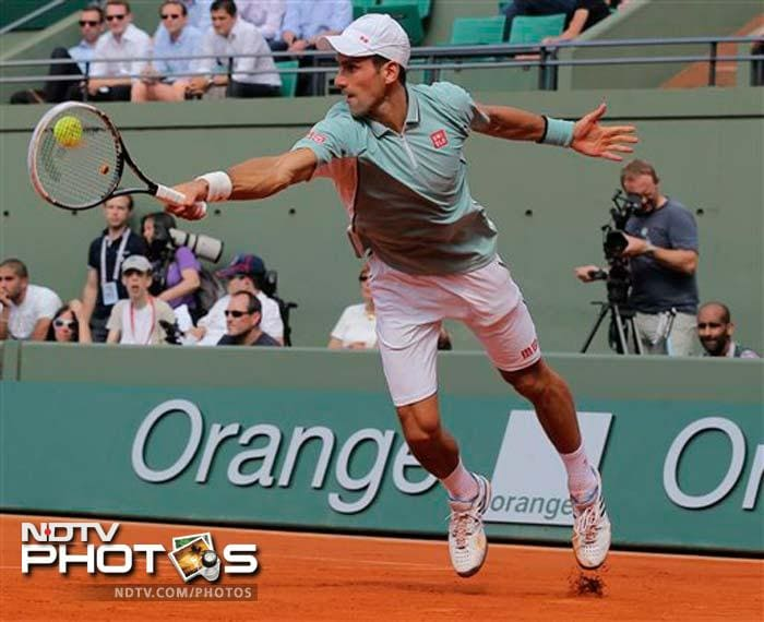 Novak Djokovic, who needs a Roland Garros title to become just the eighth man to complete a career Grand Slam, had a slightly harder time to beat German veteran Tommy Haas