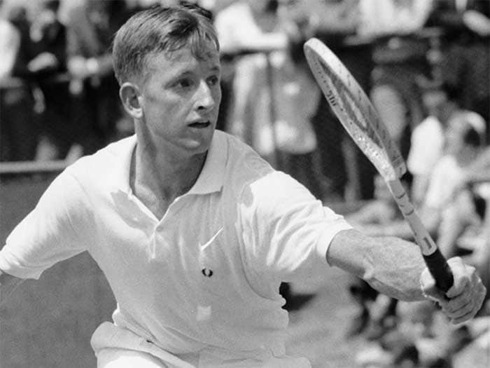 <b>Rod Laver</b><br><br> Rod Laver was one of the players who witnessed the transition from the French Championships to the French Open. The Australian, whose name now also represents the Melbourne court, lost out in the first French Open final in 1968 to countryman Ken Rosewall but got his revenge in 1969.