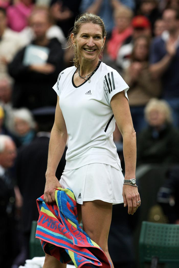 <b>Steffi Graf</b><br><br> Steffi Graf has been the second most successful player in terms of Grand Slam titles, winning 22 titles including 6 French Open titles. Graf entered the final of the French Open 9 times between 1987 and 1999, winning six of them with only one of them being in straight sets. Steffi Graf known to be one of the greatest in World Tennis, is the only player to have won a Golden Slam(All four Grand Slams and the Olympic Gold medal in the same calendar year).