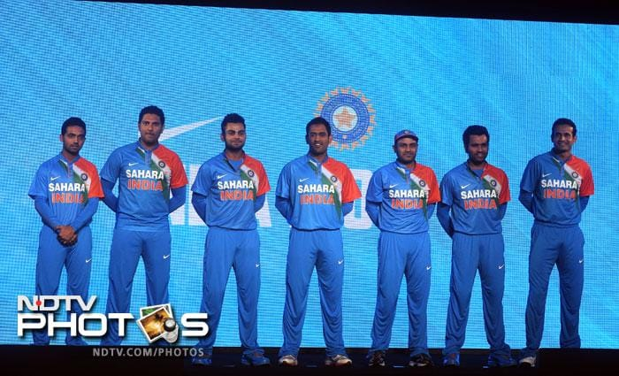 """""""Once I wear the national jersey, I automatically know that I have to give my best,"""" said Virender Sehwag at the launch. """"Having the national flag's colours close to the heart is a good idea. After all, someone like me, who plays from the heart, will only feel better for it."""""""