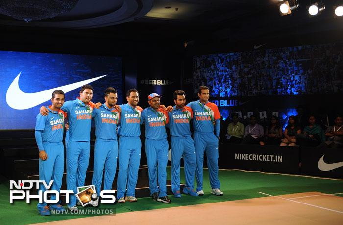 It was a new look for Team India as they attended the launch of their new T20 jerseys and kits by Nike at Mumbai. And just before we see him on the field, Yuvi made an appearance in the Indian colours after a long time. (All AFP Photos)