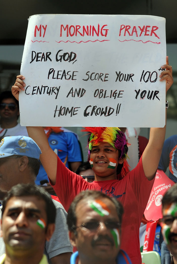 And here's a message for Sachin: The God!