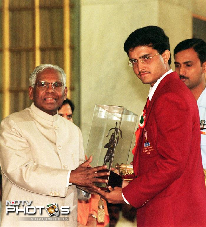 Ganguly also won some of the most prestigious awards in the country. The Arjuna award and the Padam Shri were among the greatest accolades for him.