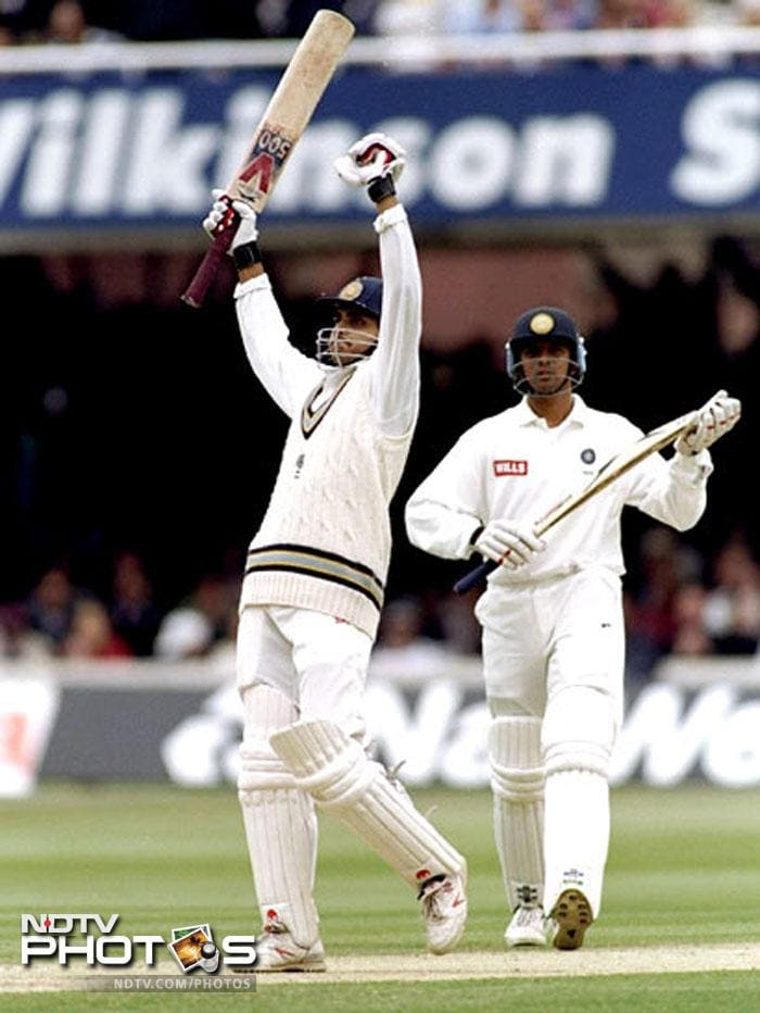 Dada was an instant success in the first Test against England; while chasing a first innings score of 344, Ganguly scored a 131 run-innings which put England on the back foot. His flamboyance pleased even more than his score, proving to be an indication of things to come. Ganguly himself claims that the mindset that he had during that innings is unmatched even after 16 years.