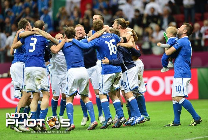 Italy are now into Sunday's final in Kiev to face defending champions Spain with the Italians bidding to win their first European crown since 1968.