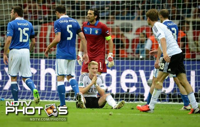 Reus came close with a fantastic free-kick but Buffon made a fine save and parried the ball away to safety.