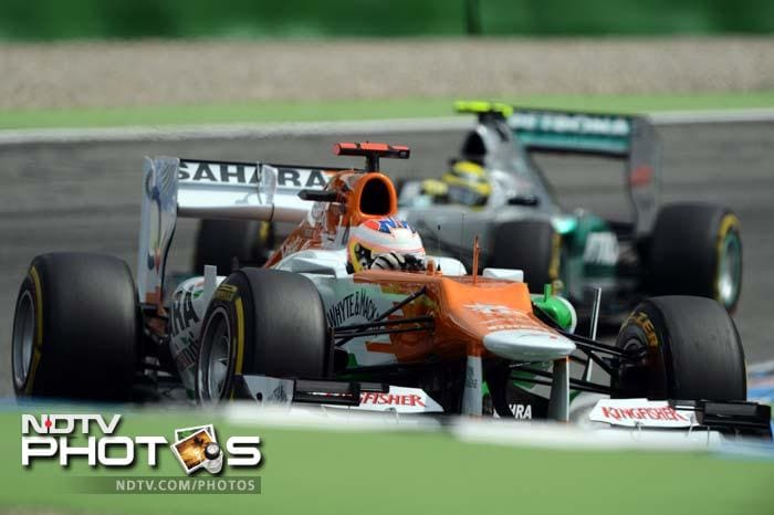 Sahara Force India's Nico Hulkenberg is a stunning fourth on the grid with the fifth fastest time. Teammate Paul di Resta is ninth.